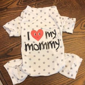 """Other - """"I love my mommy"""" doggie jumpsuit"""
